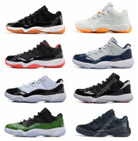 Novo 2016 Retro 11 Low Basketball Shoes Concord Bred Georgetown Space Jam Citrus GS Basketball Sneakers Mulheres Men Low Cut Athletics Boots XI