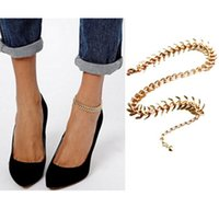 Wholesale Earrings Feet - 2015 New Fashion Animal Fish Bone Anklet Foot Chain Barefoot Beach Jewelry Accessary for Women