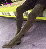 Wholesale Tall Socks For Women - shoes women 2017 fashion Woman thigh high boots over the knee booties and sexy for party shoes sock boots tall gladiator botas