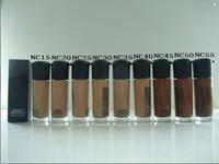 maquiagem quente base venda por atacado-TRANSPORTE LIVRE DHL! NEW maquiagem fundação quente de alta qualidade nc MATCHMASTER 35ml base líquida