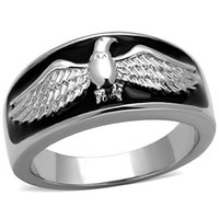 Wholesale Hawk Rings - Hawk Ring stainless steel 316l rings set Zirconia stainless steel rings for men Wholesale lot Eagle rings for men