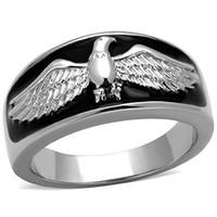 Wholesale hawk rings - Hawk Ring stainless steel 316l rings set Zirconia stainless steel rings for men Wholesale lot Eagle rings for men