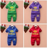 Wholesale Baby Tracking - HOT! 201 6 new winter children cotton long-sleeved track suit two.clothing set Children set baby set baby clothing suit