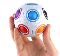 Wholesale Education Ball - New Sale Creative Rainbow Football Creative Ball Children Kids Spherical Magic Cube Toy Learning And Education Puzzle Toys