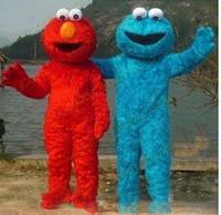 Wholesale Character Mascot Costumes Elmo - 2017 Hot sale Long Fur Elmo Mascot Costume Character Costume Cartoon Costume Elmo MASCOT Free Shipping