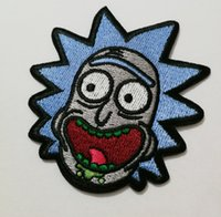 Wholesale Custom Wallets Wholesale - Custom Rick and Morty patches badges of Embroidered Iron On Clothing Badge Movie Film TV cosplay wallet bag shoes jean patches badges