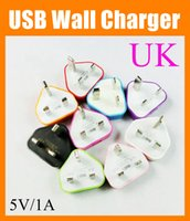 Wholesale ac dc adapter phone for sale - uk wall charger Plug Power Adapter USB Wall Charger AC DC V A A Pin Travel Adapters UK Version Cell Phone Universal Charger CAB052