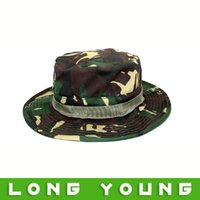 Wholesale Camouflage Caps For Sale - Wholesale-Hot sale sunscreen Camouflage cap outdoor cap bucket hat sunbonnet jungle for outdoor sport