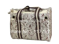 Gros-Free Shiping kaki motif de couleur jacquard polyester avec sangles de coton Chiens Pet Carrier Bag Dogs Fashion Bag