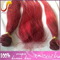 Wholesale Wig Bundles - Hot selling red color brazilian hair silky straight Human Hair Bundle with lace Closure Piece 4x4 Front Swiss lace Closure