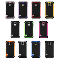 Wholesale S4 Mini Tpu - Hybrid Rugged Impact 3 in 1 Shockproof Heavy Duty Armor Hard Case for Samsung Galaxy S3 S4 S5 Mini I8190 I9190 HTC M8 LG G3