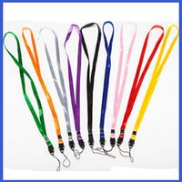 Wholesale Business Card Badge - Fashion Candy Colors Nylon Hang Straps Necklace Lanyard for Badge ID Card Business Card Student Card Exhibition Card Cell Phone MP3 MP4