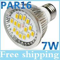 Wholesale Canada Led Lighting - Best Canada CSA PAR16 Led spotlights Ultra Bright 7W E27 SMD 5630 Led bulbs lights warm cool white 110-240V