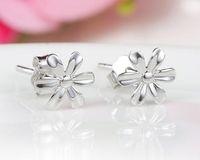 Wholesale Earrings Chrysanthemum - 925 Sterling Silver Stud Earrings Fashion Jewelry Little Wild Chrysanthemum Flower Simple Earring for Women Girls High Quality