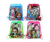 Wholesale Drawstring Backpack Animals - monster high drawstring bags monster high backpacks handbags children's school bags kids' shopping bags Children's Bags free shipping