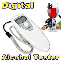 Wholesale Prefessional MINI Portable LCD Breath Alcohol Analyzer Digital Breathalyzer Tester Body Alcoholicity Meter Gas Alcohol tester Detection