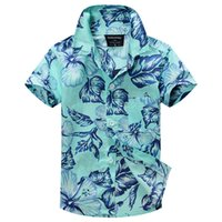 ingrosso camicia floreale dei ragazzi all'ingrosso-Camicia aloha della camicia del hawaiian della camicia del cotone 100% di trasporto libero all'ingrosso-2015 nuovo arrivo per il ragazzo T1509