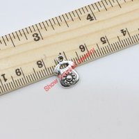 Wholesale Wholesale Antique Telephones - 20pcs Antique Silver Plated Telephone Charms Pendants for Jewelry Making DIY Handmade 15x10mm B122 Jewelry making DIY