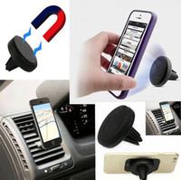смартфон для мобильного телефона оптовых-Магнитный автомобильный держатель мобильного смартфона для мобильного телефона Mini Air Vent Mount Handfree Magnet для мобильного телефона iPhone Samsung