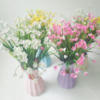 Wholesale beautiful flower vases - Plastic Artificial Vase Flower Fruit Beautiful Colorful Basket Container Garden Party Room DIY Party Decoration Random Color
