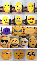 Wholesale Polyester For Stuffing - 2015 new soft Cushion cute lovely Emoji smiley pillow expression cartoon facialcreative pillows round stuffed plush toy gift for kids