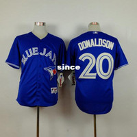 Wholesale China Factory Outlets - Factory Outlet Best Quality Cheap Toronto Blue Jays Mens Womens Kids 20 Josh Donaldson Blue Flex Base Cool Base Baseball Jerseys from China
