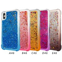 Wholesale Glitter Crystal Sand - For iphone 8 Case Dynamic Liquid Glitter Sand Quicksand Star Case Crystal Clear Cellphone Back Cover For Samsung Galaxy Note 8 A