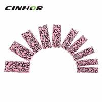 Wholesale Elegant Nail Tips - Wholesale-Elegant Lace Texture Adhesive Decorative Nail Tip - Black + Pink (100 PCS)