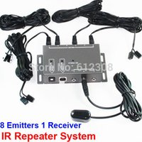 Atacado-BD108 8 Emissor 1 Receptor 1 adaptador IR Infrared Remote TV Kit AV Video Home Aplicação Extender escondido IR Repeater Sistema
