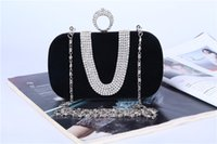 Wholesale Elegant Evening Handbag Rhinestone - Fashion Women Retro Hard Glitter Dinner Evening Party Bags Clutch Handbag Elegant Clutch bag Mini