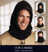 Wholesale Thermal Fleece Hoods - Tactical Fleece Hat Balaclava Neckwear Multifunction 4 in 1 Hood Winter Thermal Face Mask Collar Motorcycle Ride Gator Head Wear headscarf