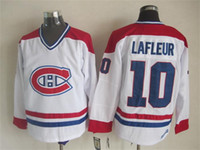Qualité supérieure ! Hommes Canadiens de maillots de hockey sur glace Cheap 10 Guy Lafleur Throwback Vintage CCM Authentic Stitched Jerseys Mix Order!
