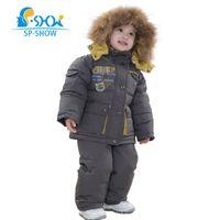 Wholesale White Coat Suit For Boys - Winter Reima Luxury Brand Kids Hooded Two Piece Children Jackets Boys& Girls Suit Set For 2-6 Age Snow Suit Down & Parkas 9113