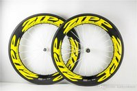 Wholesale Carbon Zipp - Fast shipping Yellow ZIPP 88mm Carbon Bicycle Wheels clincher bicycle wheels 700c carbon road wheelset 20 24 A01