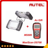 Wholesale Autel Ds - 2016 Most powerful 100% original autel maxidas ds708 update via internet DS 708 with MS509 as gift Super scanner free shipping
