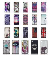 Dream catcher Aztec Tribe Flower Owl Elephant UK USA Flag Nero Custodia in plastica rigida per PC per Sony Xperia Z1 Z2 Z3 Mini E3 E4 M2 T2 T3