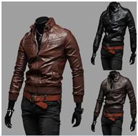Wholesale Discount Coat Men - Discount Man Coats Stylish Outerwear Mens Apparel Clothing Zipper Jackets Lapel Neck Jacket Mans Waistcoat Designs Korean Coats Hot Sale