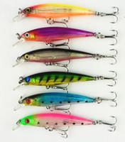 Wholesale Stick Baits - 12pc sample FISHING LURES CRANKBAITS HOOK BASS 6g 8cm Minnow Crank Bait (MI035) 6# two hooks Hard bait Stick bait fishing lure