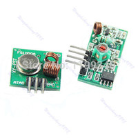 Wholesale Transmitter Receiver For Rf - Wholesale-A25 hot-selling New Transmitter Module And Receiver Link Kit For Arduino ARM MCU WL433Mhz RF free shipping