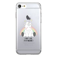 Wholesale Cute Silicone Phone Cases - Unique Cute stars Unicorn Clear Transparent Soft Silicon Phone Case Back Cover for iPhone 8 8s plus iphone X TPU Coque Carcasa Funda