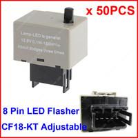 Wholesale Led Turn Signal Flasher Fix - 50PCS CF18-KT LED Flasher 8 Pin Adjustable Relay Module Fix Auto Turn Signal Error Flashing Blinker 81980-50030 06650-4650 150W Toyota Lexus