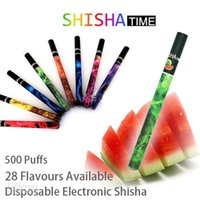 Wholesale electronic cigarette health - Disposable Electronic Cigarette E Shisha Pen Health 9 Fruit flavor hookah vapor 5 colors DHL free shipping