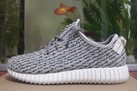 Wholesale Slip Basketball Shoes - Free Shipping 2016 Kanye West 350 Boost pirate black Turtle Dove Tan Moonrock Oxford Shoes Men Women Fashion Sneakers With Box