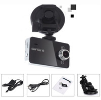 Wholesale Tft Car Video - 2015 New arrival Free shipping K6000 Car Camera Car Video Recorder FHD 1920*1080P 25FPS 2.4inch TFT Screen with G-sensor Registrator Car DVR