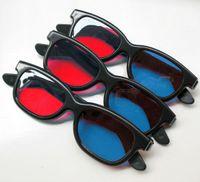 kırmızı mavi 3d gözlükler toptan satış-Evrensel tipi 3D gözlük / Kırmızı Mavi Mavi 3D gözlük Anaglyph NVIDIA 3D görüş Plastik gözlük