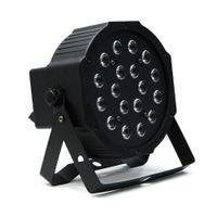 Wholesale Dj Stage Lights Equipments - Edison2011 18W LED Stage Light High Power RGB Par Light with DMX Master Slave LED Flat DJ Equipments Controller