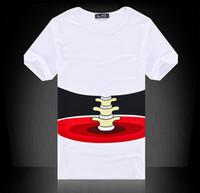 Wholesale Mens Blouse Shirts - 2 colors Mens 3D realistic T shirt Lovers Men's White Short Sleeve Personality Hand Grasp 3D T-shirt Tee Blouse