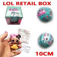 Wholesale Cartoon Baby Dresses - LOL SURPRISE DOLL 10cm Spray Water Discolor Series 1 2 Dress Up Toys baby Tear open change egg spray Realistic lil 45 + Collect