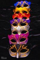 Wholesale Glitter Masquerade Masks - Promotion Selling Party Mask With Gold Glitter Mask Venetian Unisex Sparkle Masquerade Venetian Mask Mardi Gras Masks Masquerade Halloween