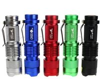 Wholesale Drive Update - 2015 Updated 5 Colors Flash Light 7W 300LM CREE Q5 1- Mode LED Camping Flashlight Torch Adjustable Focus Zoom waterproof flashlights Lamp